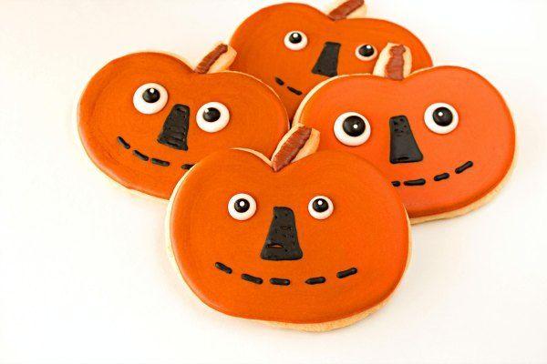 Folk Art Pumpkin Cookies by The Bearfoot Baker Cookie Decorating - halloween pumpkin cookies decorating