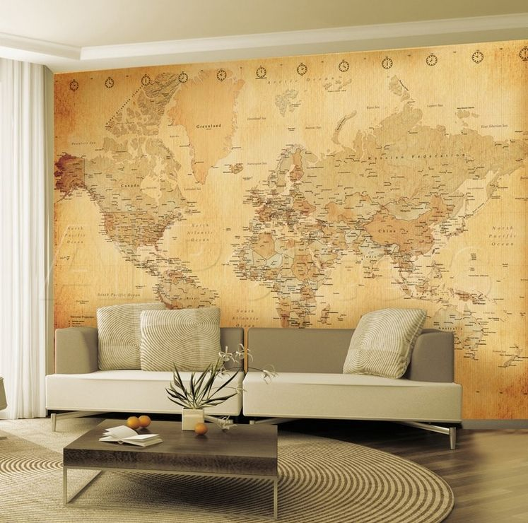 Wall decals murals wallpaper old maps home decor ideas vintage world map wall mural by at gilt gumiabroncs Choice Image