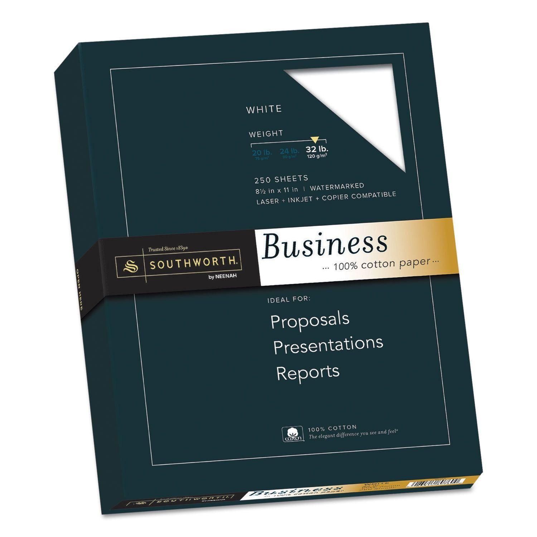Southworth 100 Percent Cotton Business Paper 32 Pound 95 Bright 8