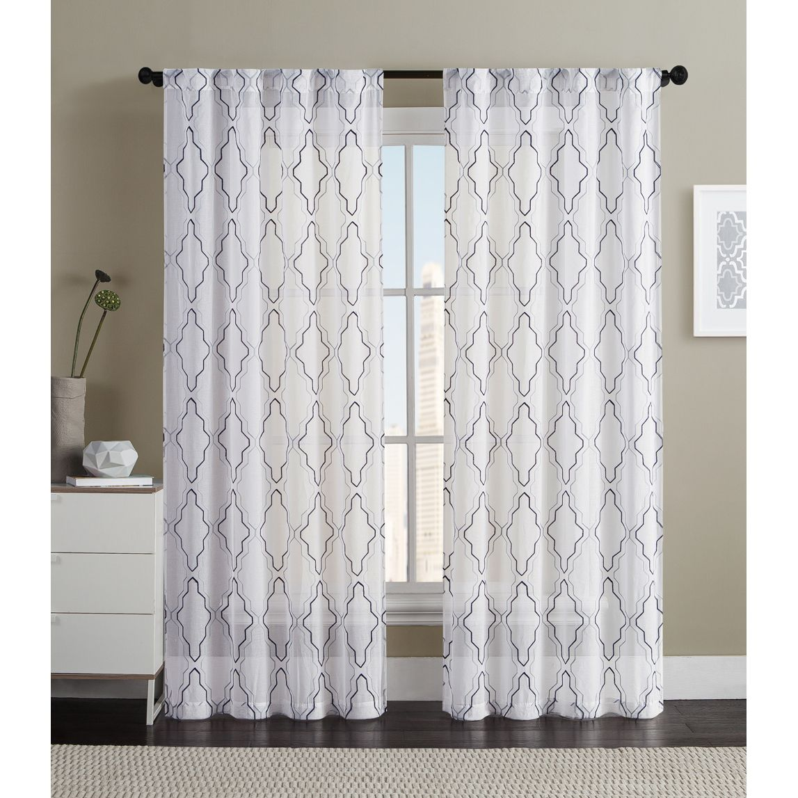 Overstock Com Online Shopping Bedding Furniture Electronics Jewelry Clothing More Sheer Curtain Panels Geometric Curtains Vcny