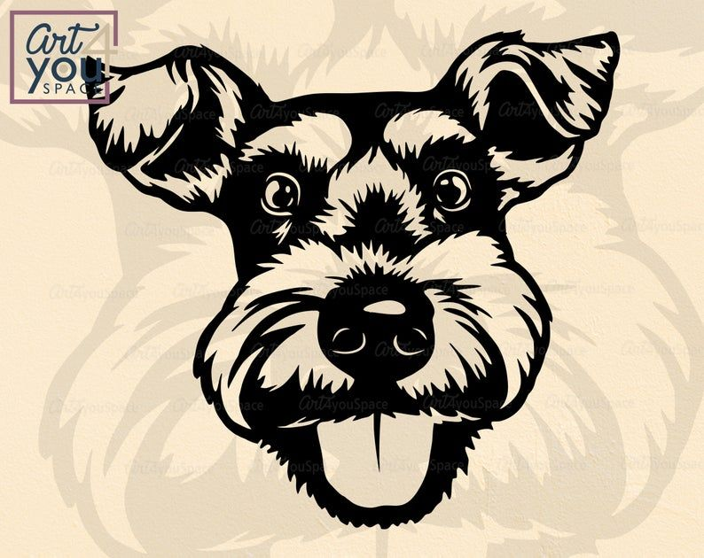 Schnauzer SVG Home decor Svg Home With Dog Svg Schnauzer DXF Schnauzer cutting file