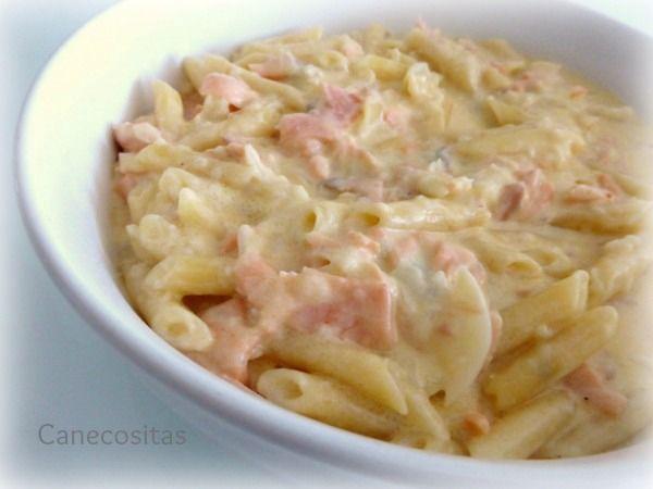 Macarrones Exprés De Salmón Con Thermomix Receta Recetas De Pasta Italiana Comida Recetas De Pastas