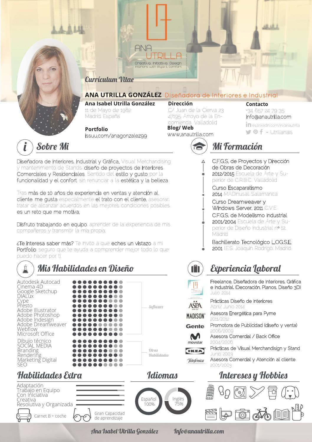 Cv ana utrilla interiorista decoradora curr culo Diseno de interiores un manual pdf