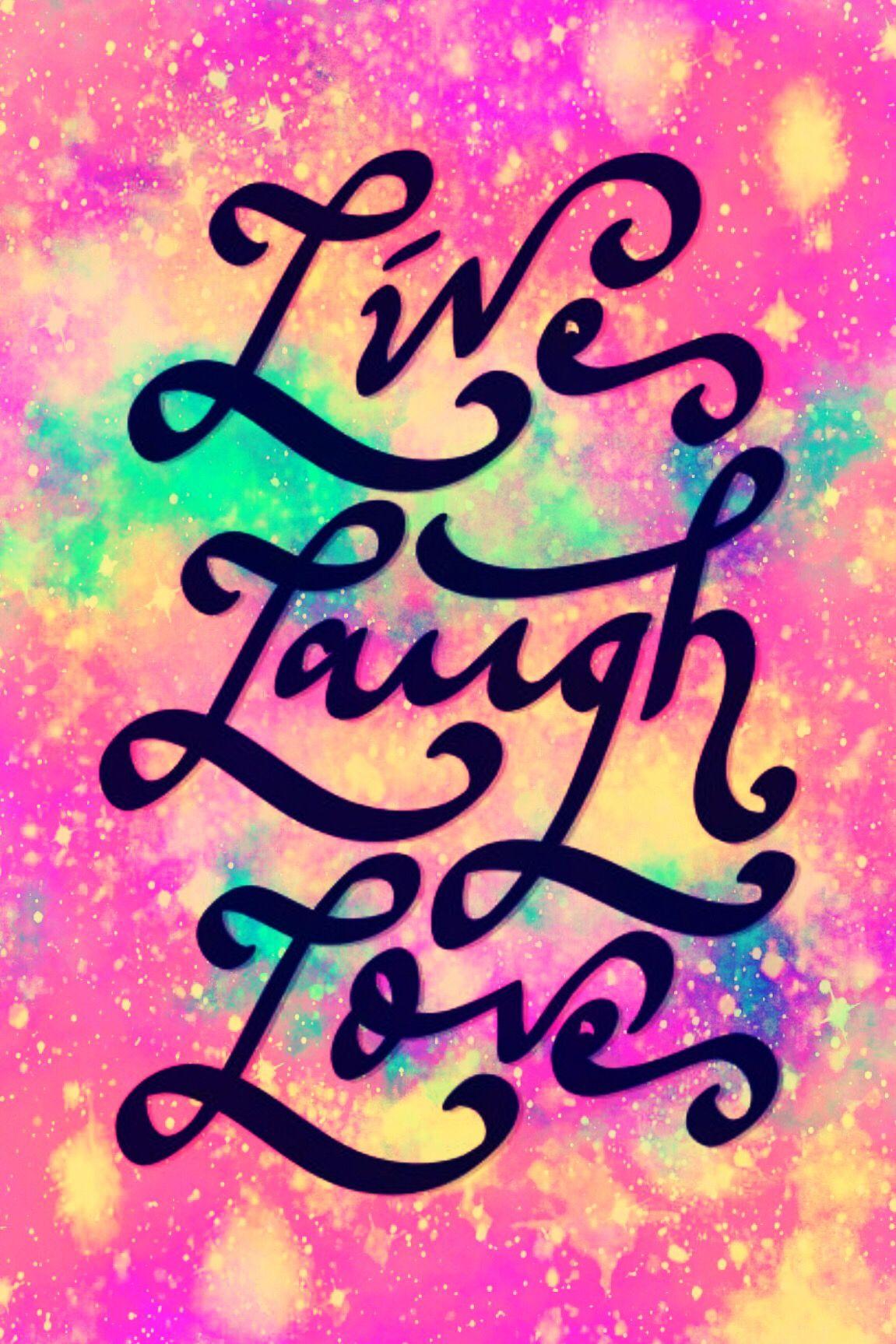 Wallpaper Lockscreen Quotes Sayings Laugh Love Live Motivation Positivity Glitter Sparkle Galaxy Pi Wallpaper Quotes Trendy Wallpaper Fb Wallpaper Galaxy live laugh love wallpaper