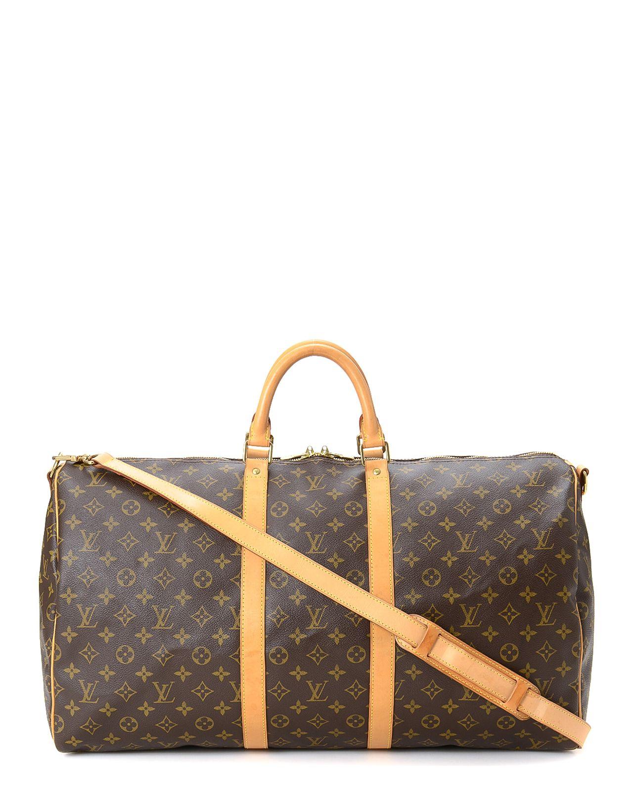 a7a8a1bb62 Louis Vuitton Keepall 55 Bandouliere Travel Bag - Vintage