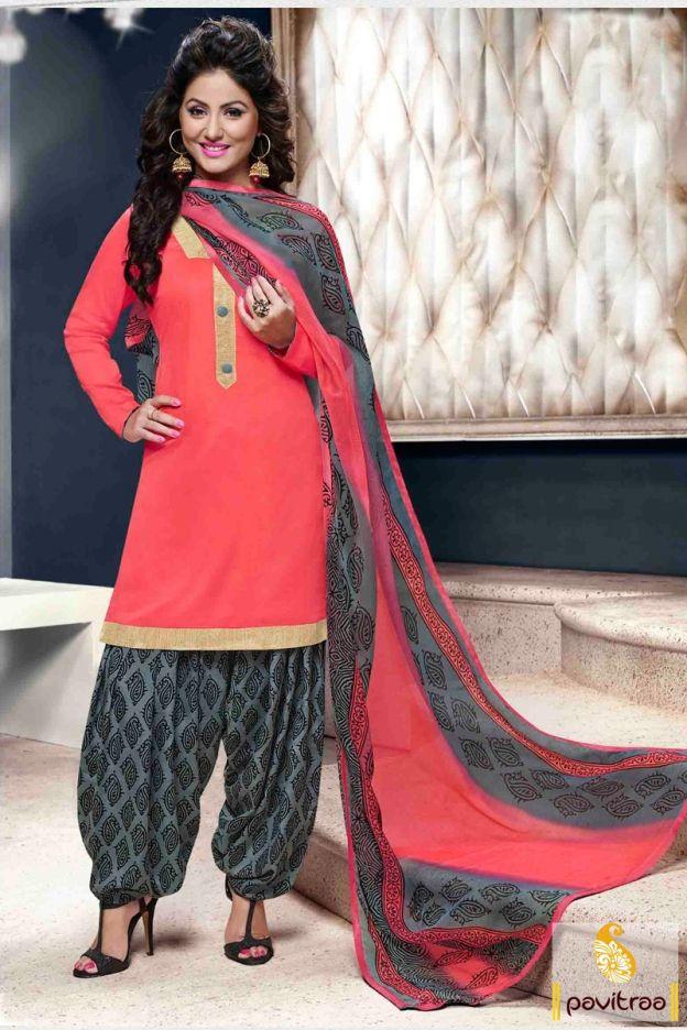 2df79816e0f Grab this beautiful Hina Khan Akshara special red punjabi patiala salwar suit  online shopping at lowest