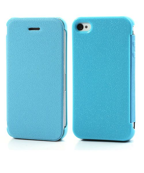 iPhone 4/4S Ultra Dunne Flip Cover Blauw