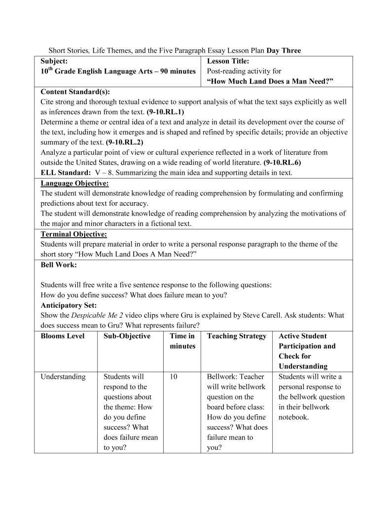 Lesson Plan Writing Lesson Plans Writing Response How To Plan