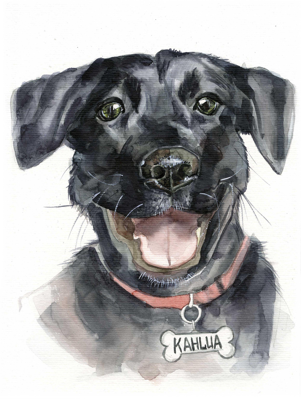 Custom Pet PortraitWatercolorPersonalized paintingDog portraitPuppy portraitDogwatercolour