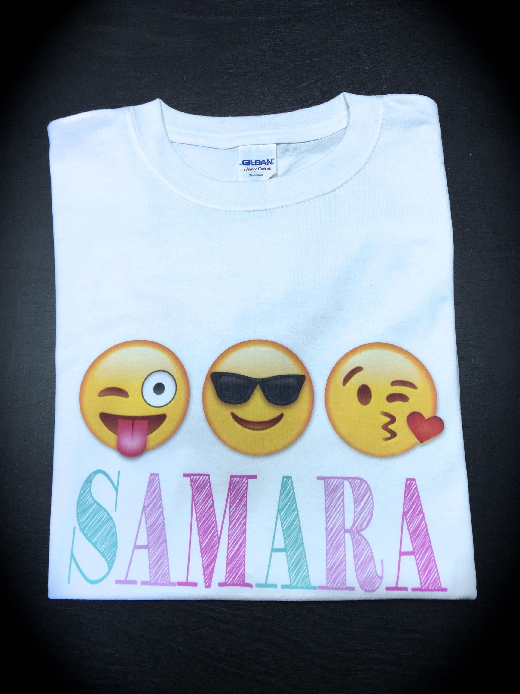 EMOJI Party Favors Personalized Shirt Birthday Emoji By GlitterGirlsShopLLC On Etsy