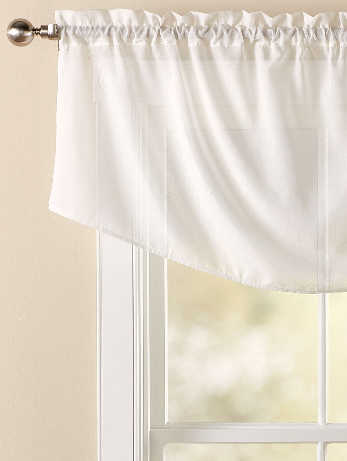 Sandy Semi Sheer Rod Pocket Cascade Valance In 2020 Valance