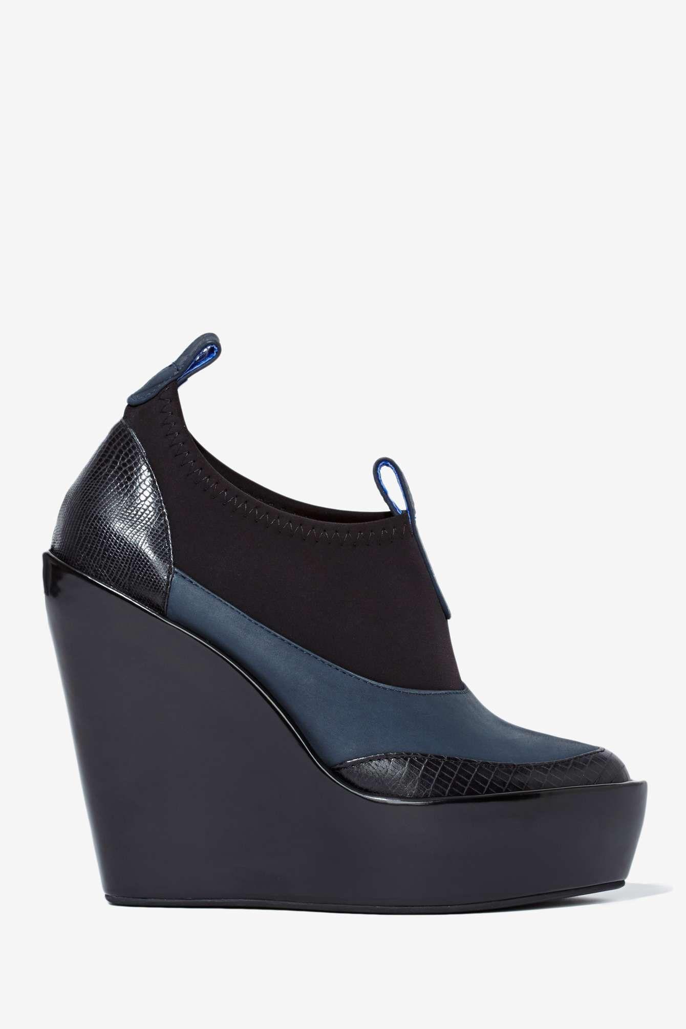 c244ea2f019b Jeffrey Campbell Soju Leather Wedge