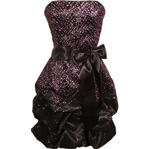sparkle glitter tulle and satin strapless bubble dress junior plus