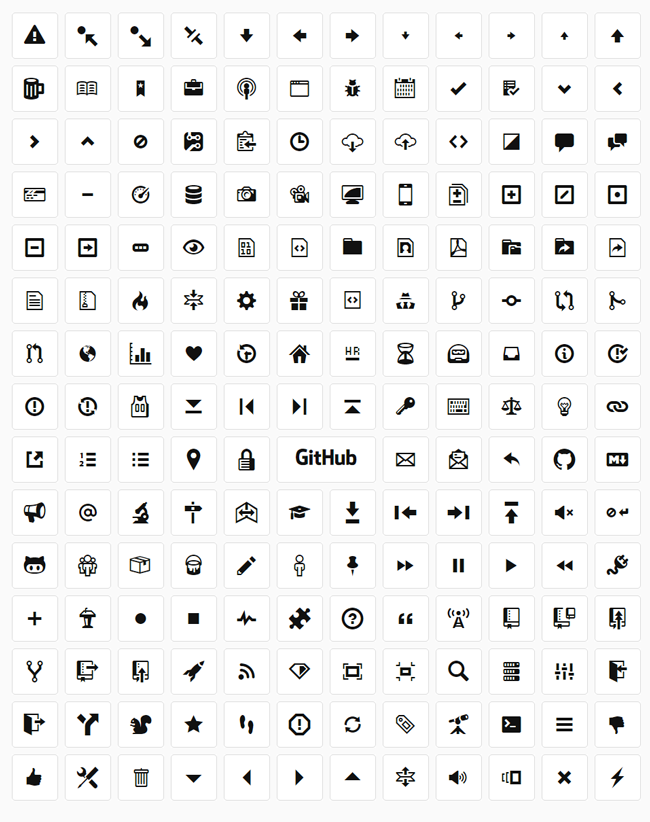 elements design octicons github webfonts pack icons
