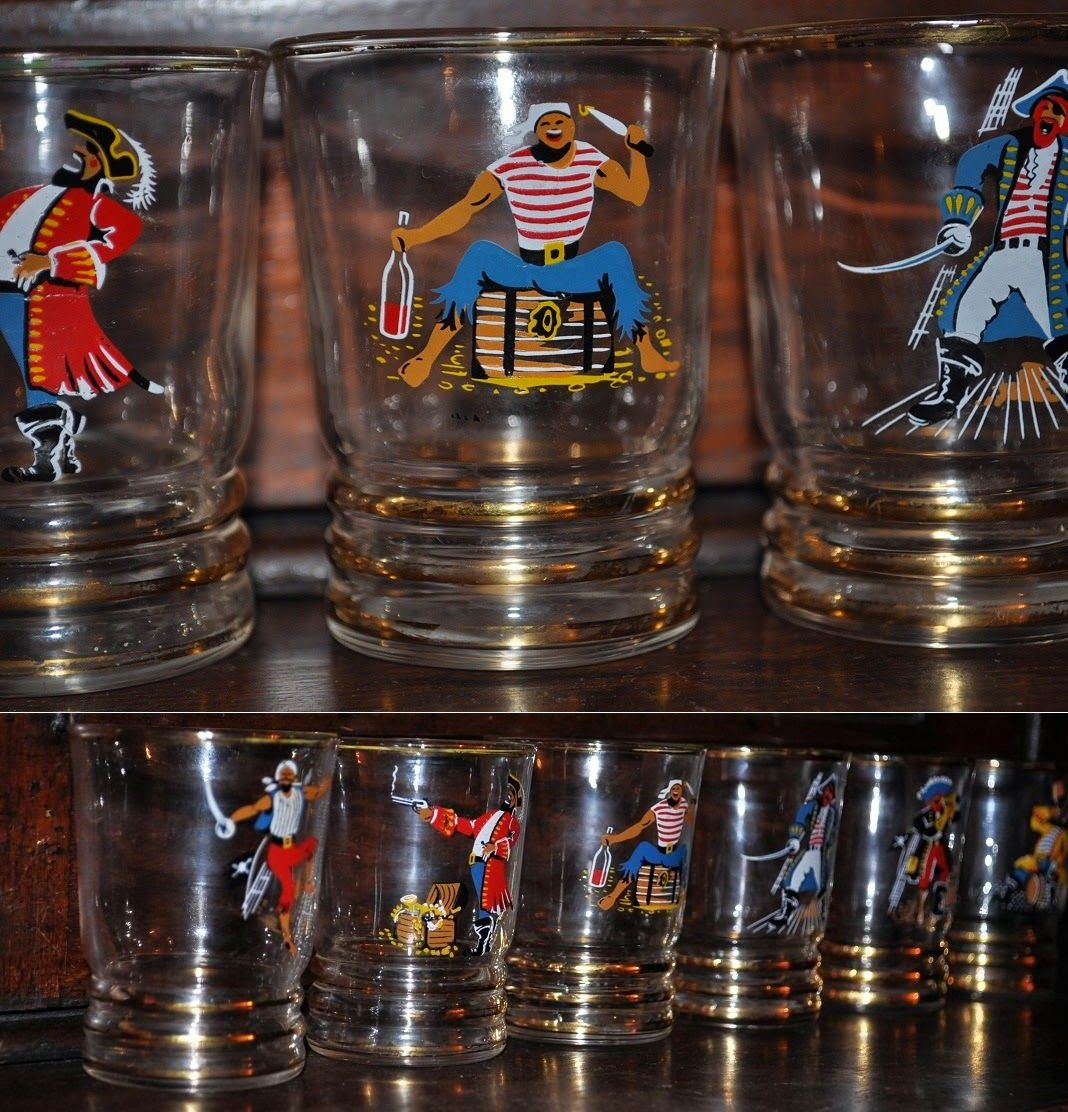 Winter Moon : Pirate Shot Glasses