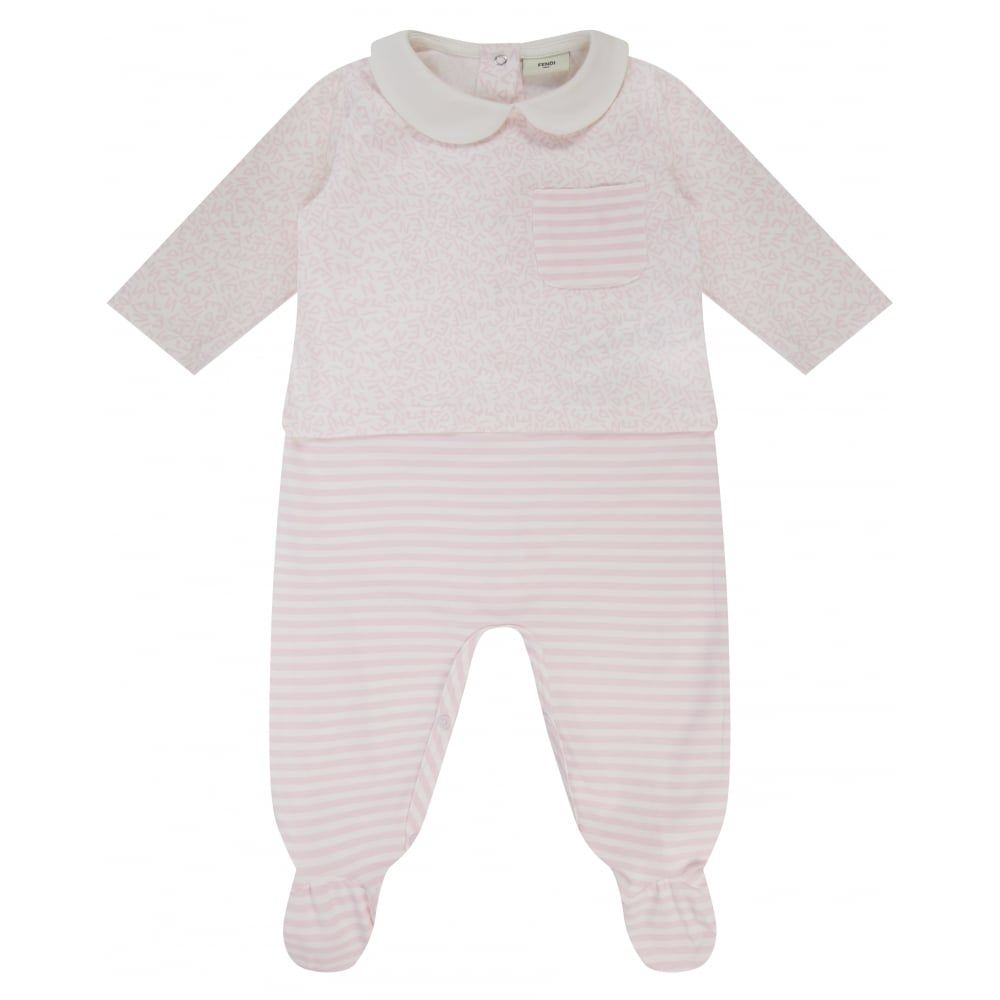 a77c0e066526 Fendi Baby Girls Cream Gift Set with Baby Grow