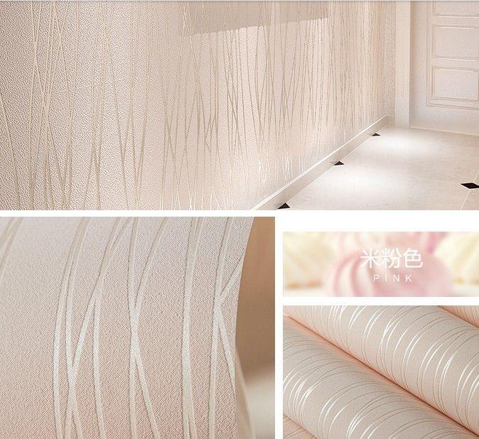 2016 new hot sale stripe wallpaper Non-woven wall stickers Simple - peindre sur papier vinyl