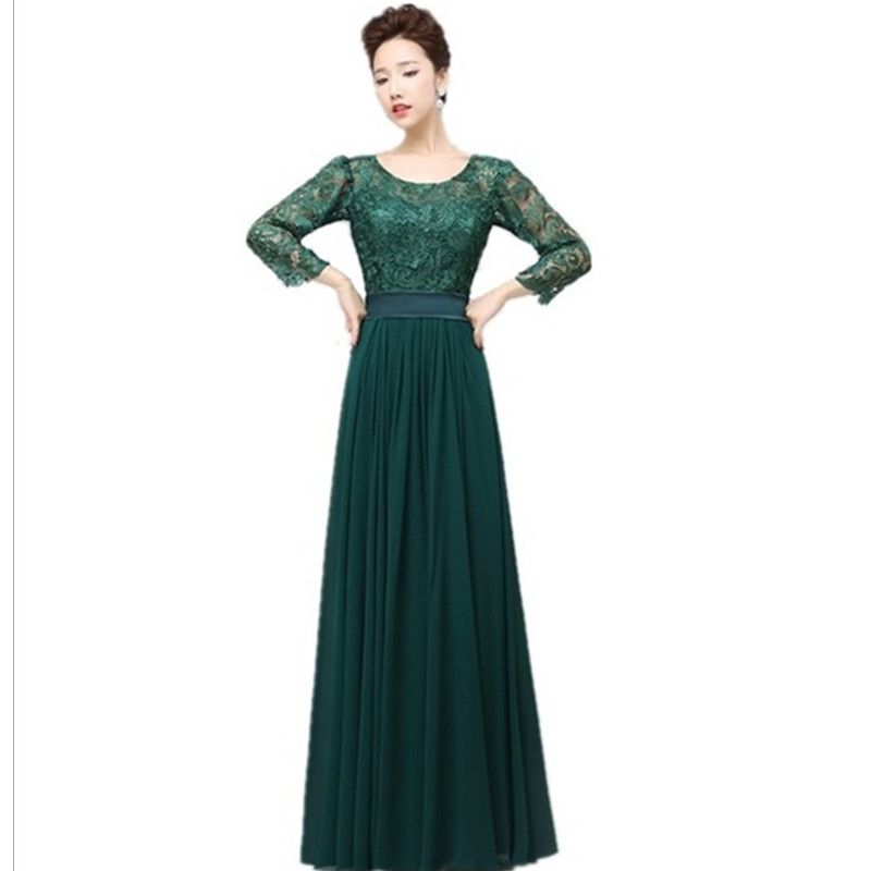 Emerald Long Sleeve Lace Dress