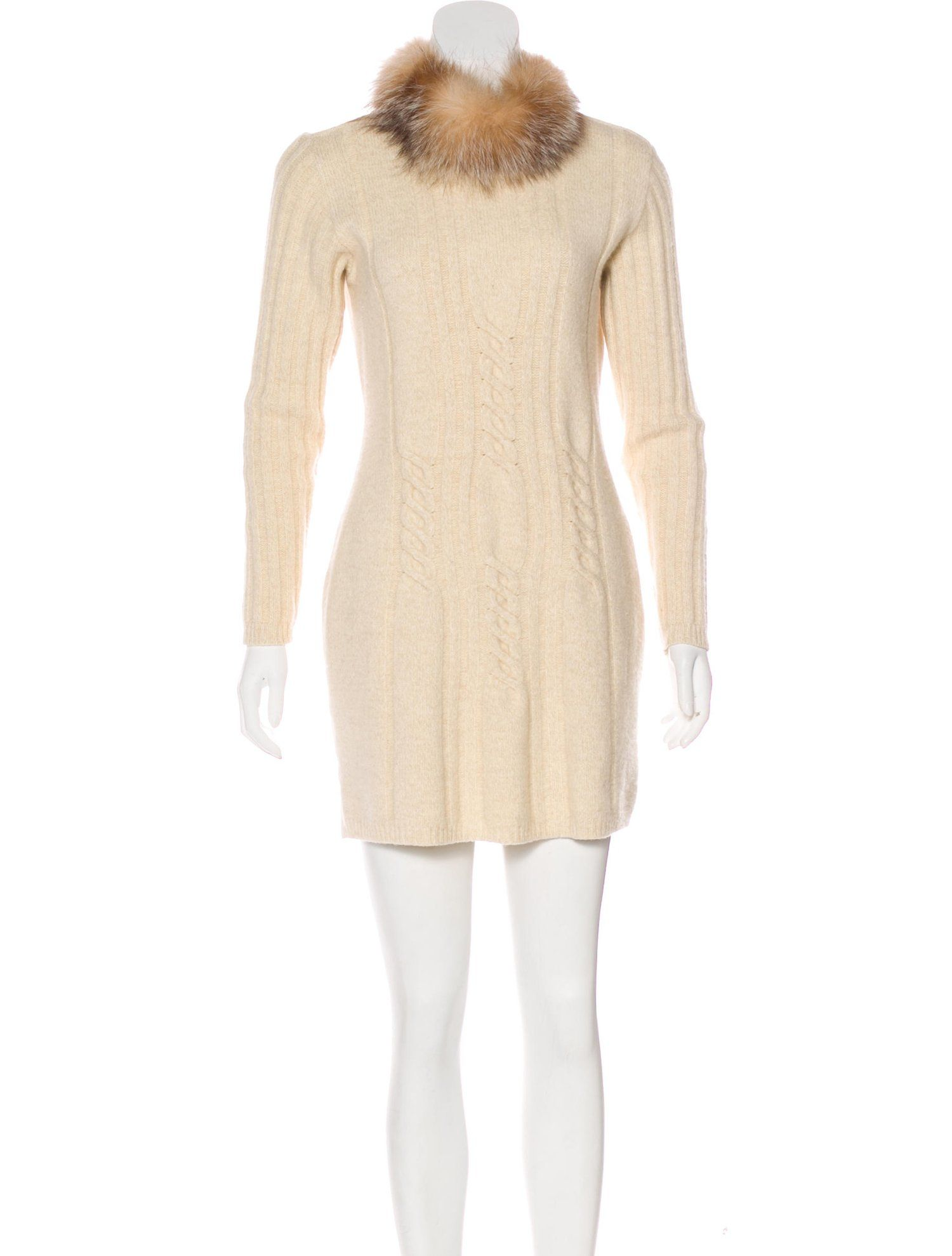 c6c60425db4 Fendi Fur-Trimmed Sweater Dress  SPONSORED  Fur  Fendi  Trimmed