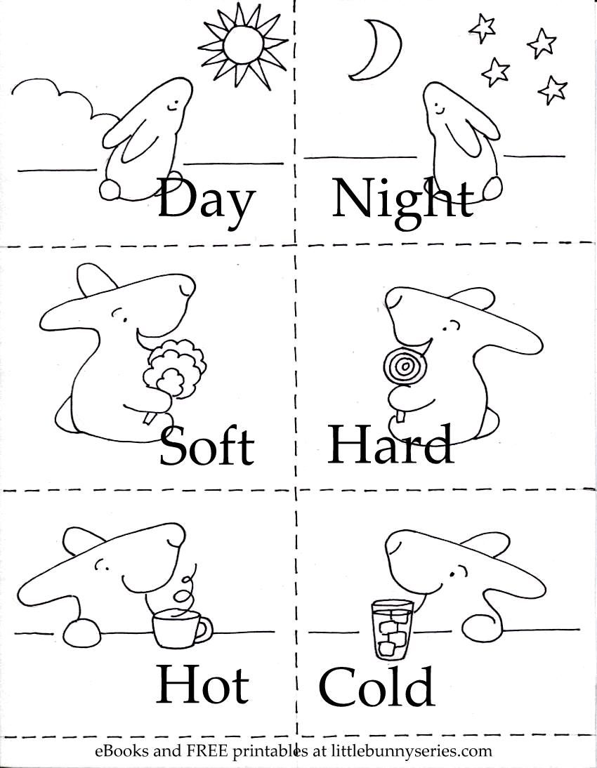 Click on the above image for a pdf of the opposites 3 in Coloring book for kindergarten pdf