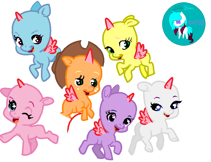 My Little Pony Group Chibi Base By Noah Arts By Noahszarts On Mlp