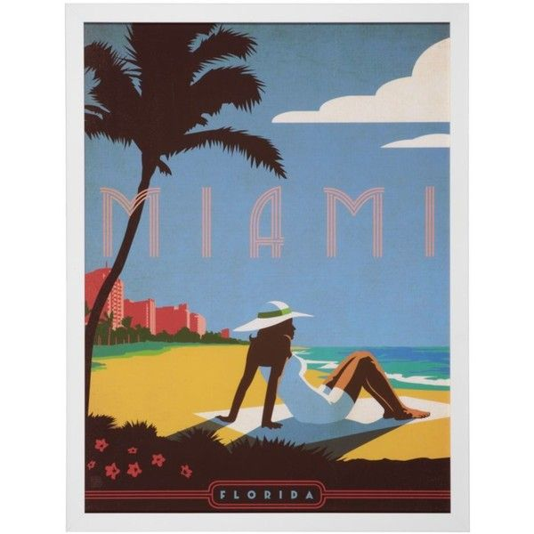 Vintage Miami (5.655 RUB) ❤ liked on Polyvore featuring home, home ...