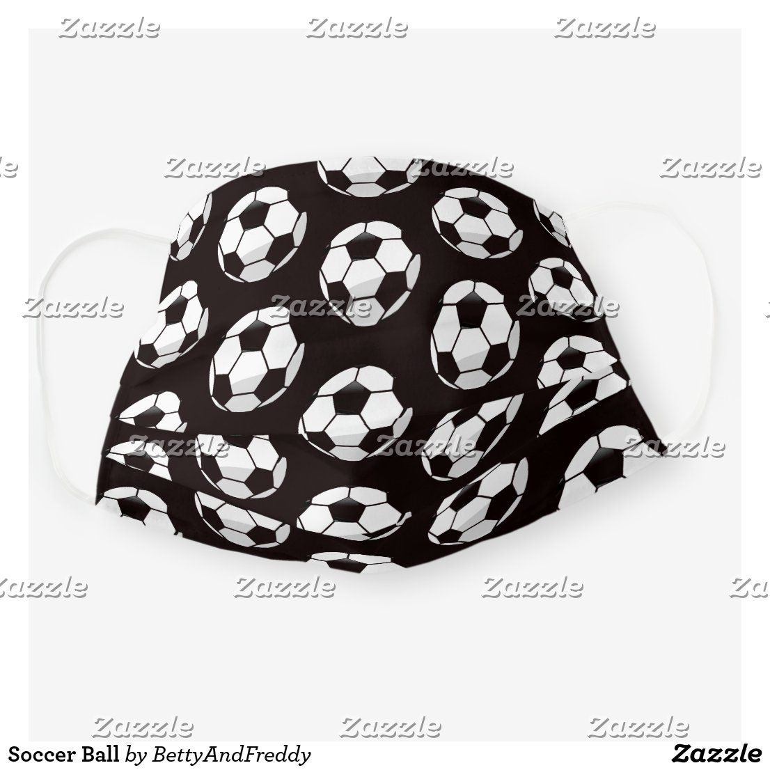 Soccer Ball Cloth Face Mask In 2020 Soccer Ball Face Mask Soccer