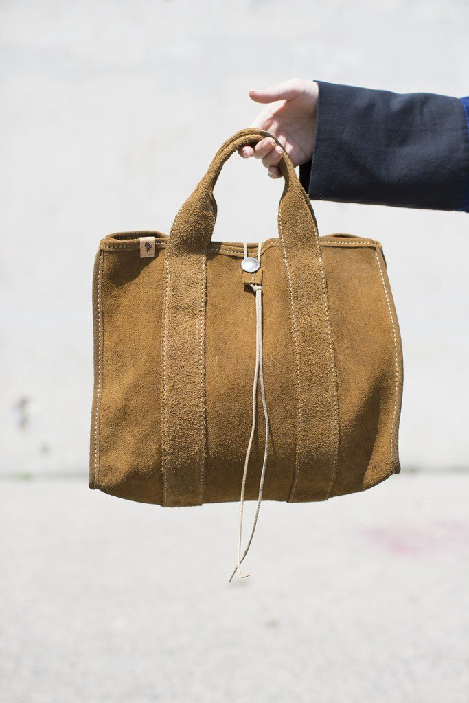 6720275b1 Visvim Teton Tote Bag in Brown Suede | dressy in 2019 | Bags, Tote ...