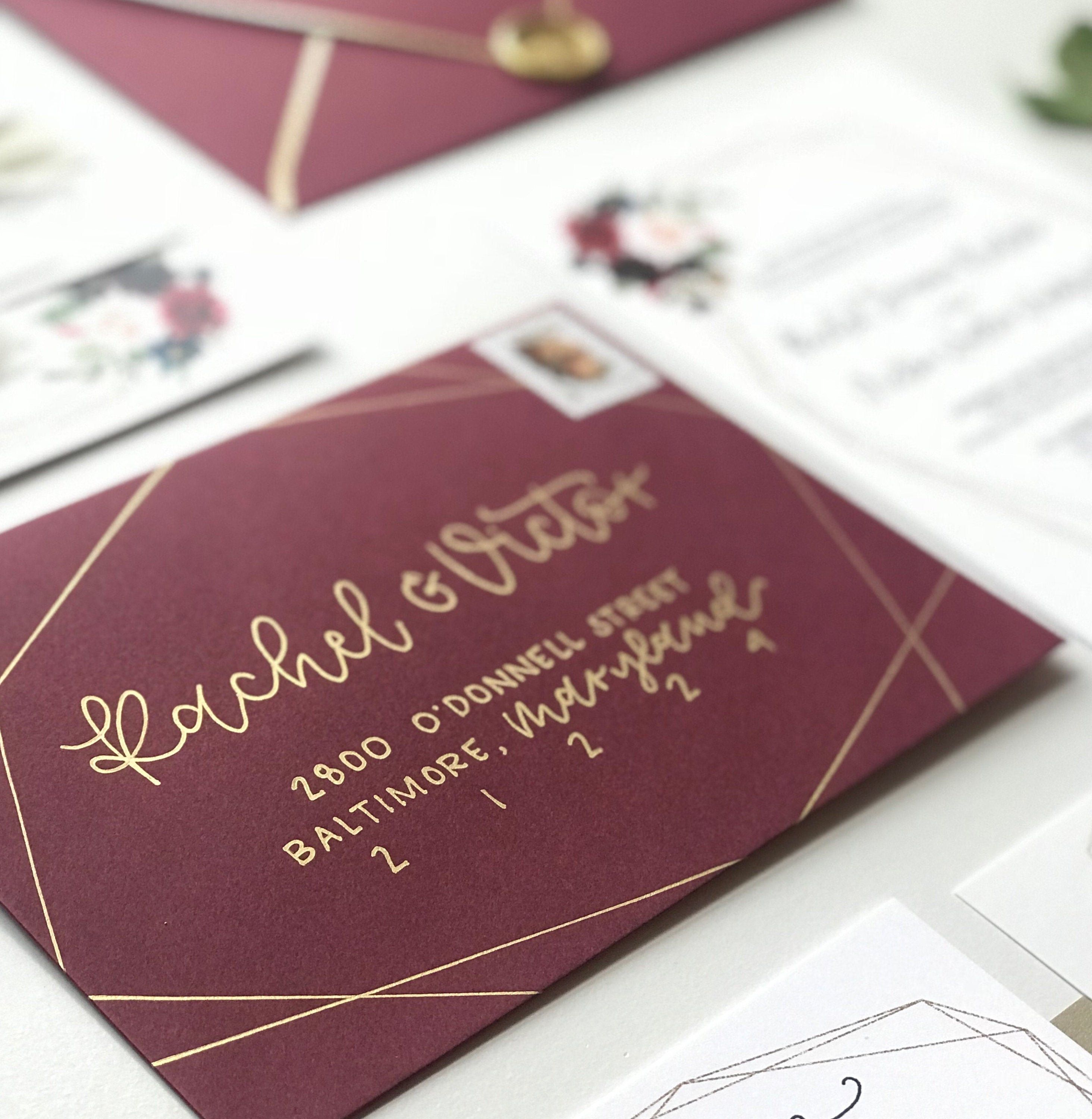 The Wakefield Envelope Calligraphy Hand Lettered Addressing Custom Calligraphy In 2020 Hand Lettering Calligraphy Envelope Personalized Invitations