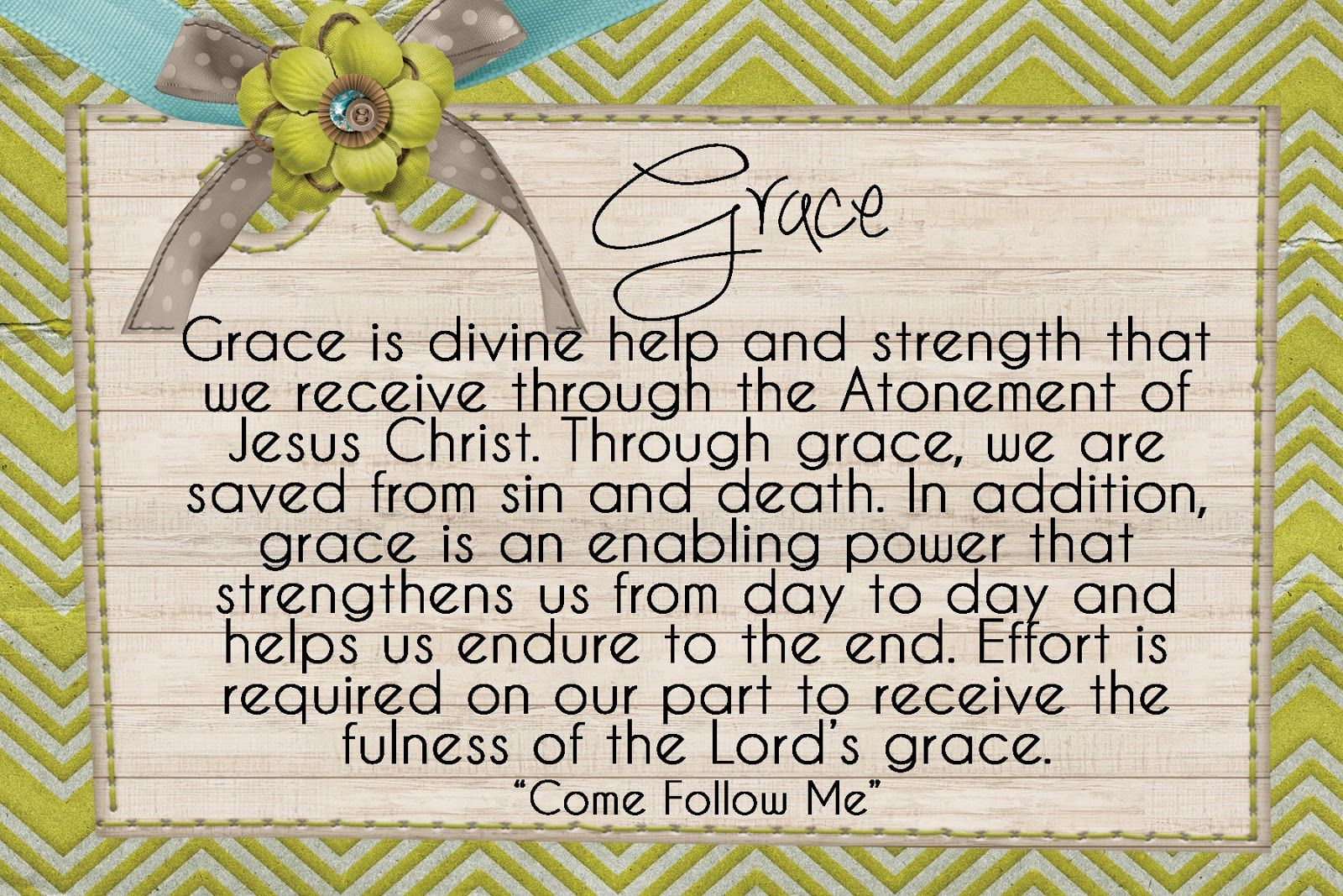 Lds Quotes For Youth: LDS Handouts: The Atonement: What Is Grace?