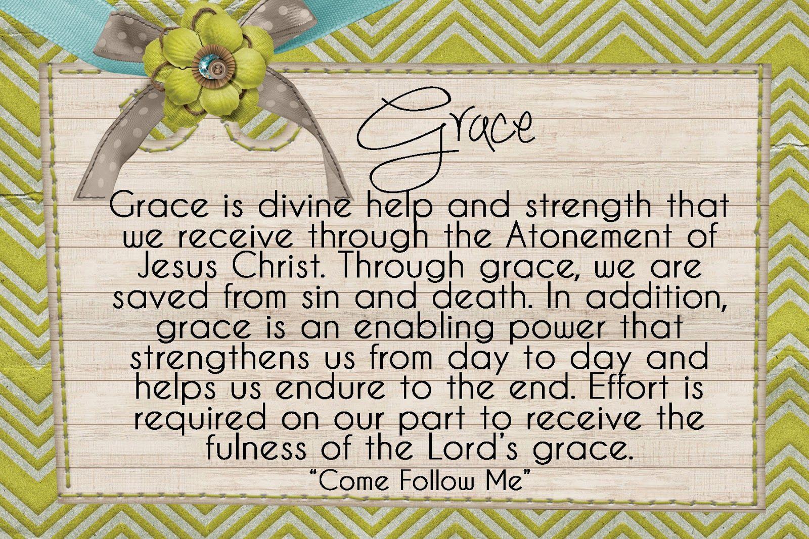 Lds Handouts The Atonement What Is Grace