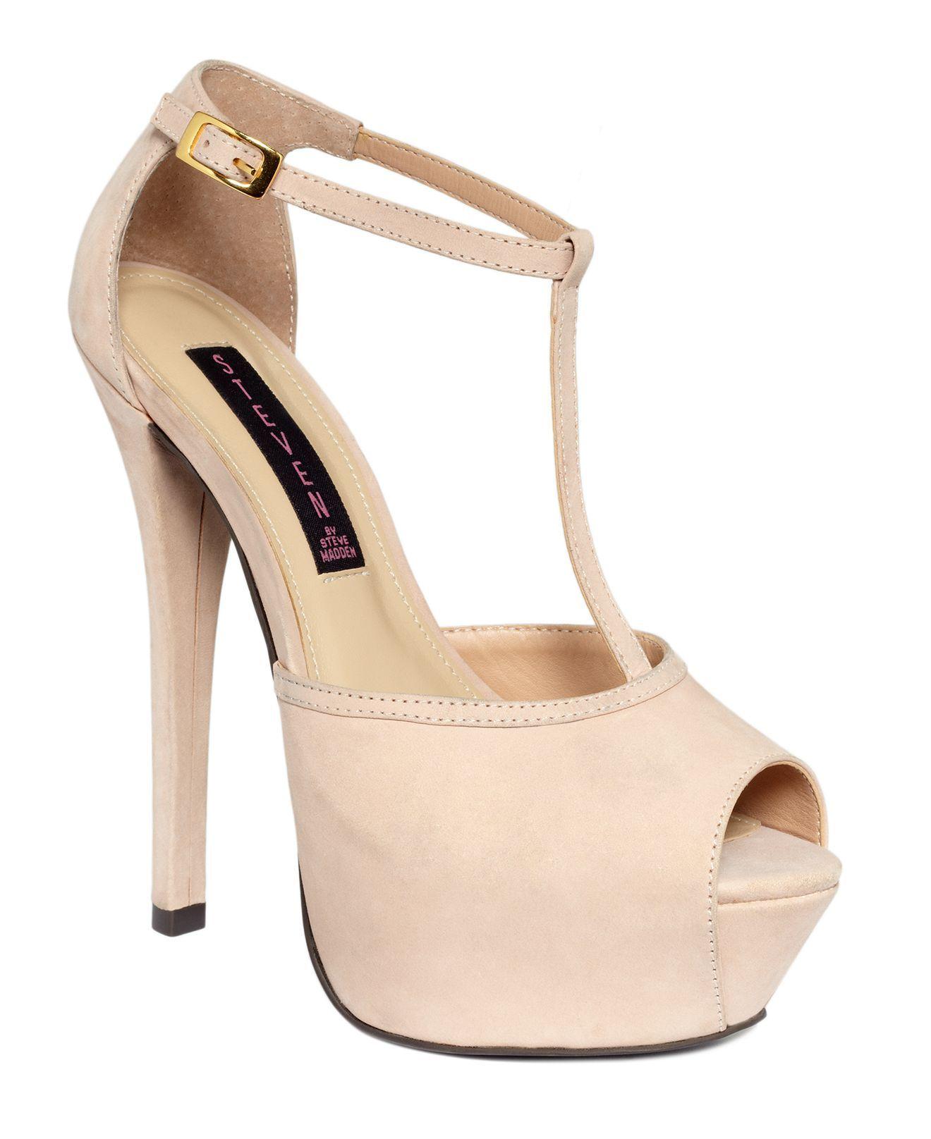 STEVEN by steve madden shoes. angels T strap platform pumps. $159 -worth it