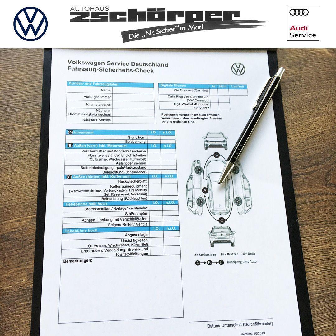 Kommt Gesund Und Sicher Ins Neue Jahr Damit Ihr Auch Mit Eurem Auto Sicher Unterwegs Seid Haben Wir Im Januar Den Sicherh Audi Service Volkswagen Audi