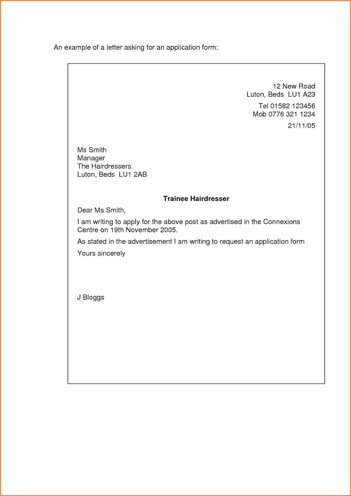 simple cover letter for a job