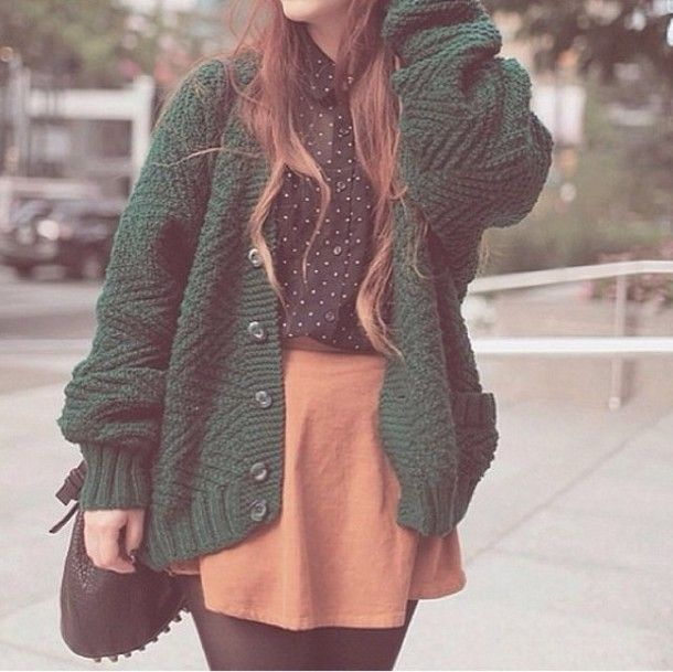 green sweater outfit pinterest - Google Search