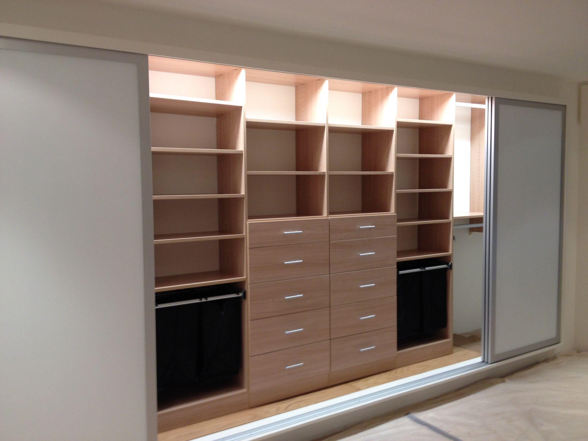 reach in closet sliding doors. Designer Ashly, California Closets Pittsburgh - Reach In Closet, Umbrian Oak \u0026 Element Sliding Closet Doors