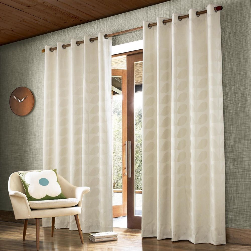 Orla Kiely Ready Made Curtain Jacquard Stem Clay Orla Kiely Curtains Orla Kiely Curtains