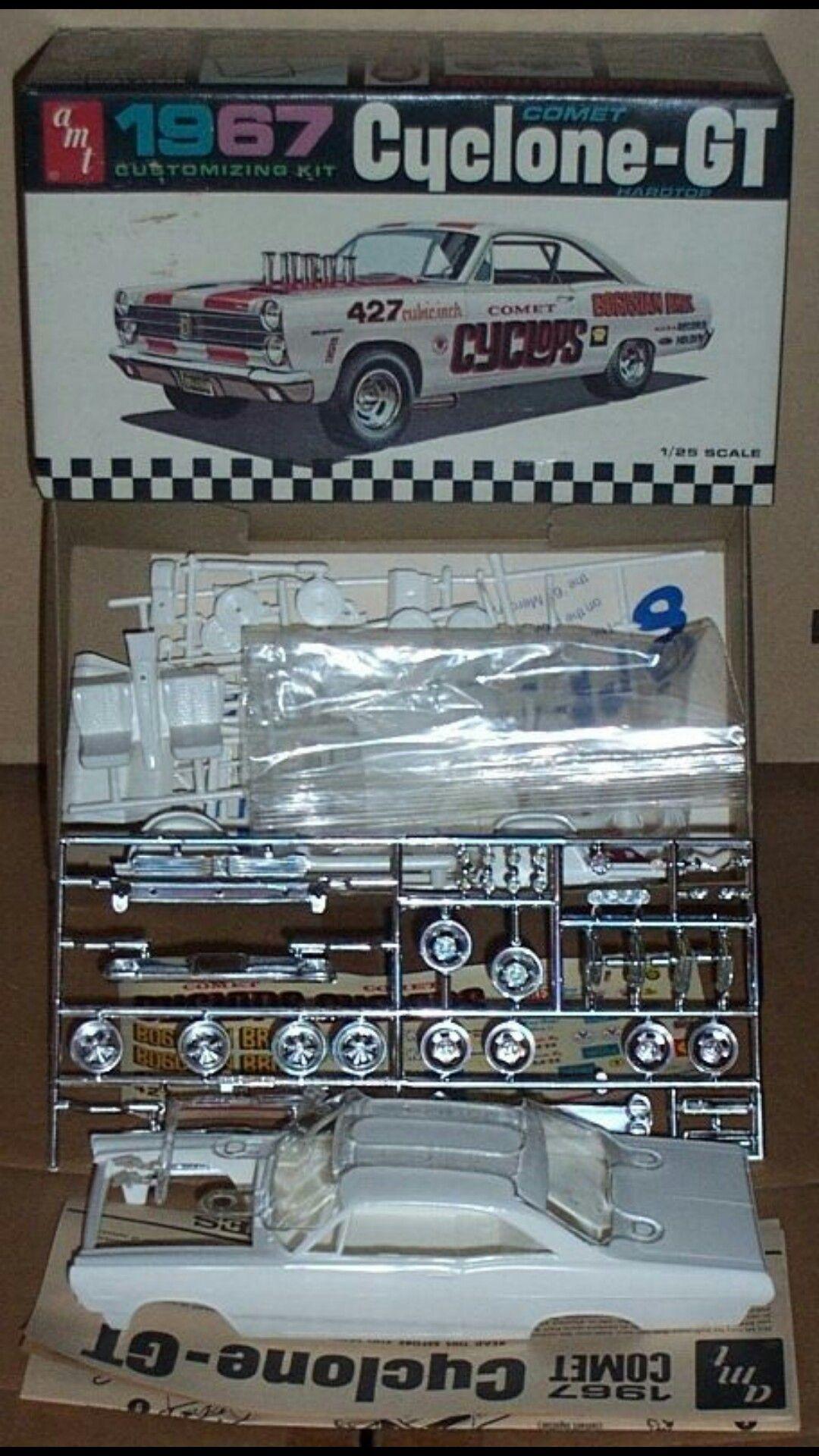 Amt Cyclone Gt Model Box Art And Ads Pinterest Model Car