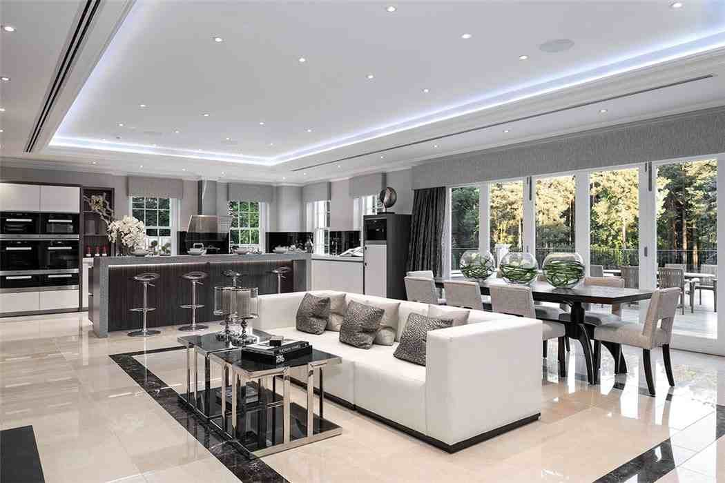Pin By Ehab Oweis On Ind Kitchens Luxury Houses Kitchen Open Plan Kitchen Living Room Luxury Kitchen Design