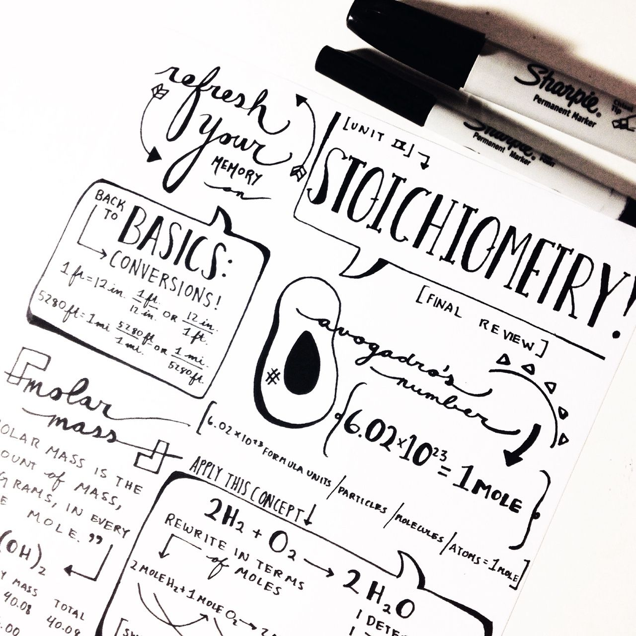 Pharmbunny Workspaced A Class Set Of Notes For A Stoichiometry Lesson I Taught That Avocado