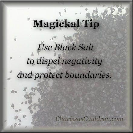 Magickal Tip - Black Salt – Charissa's Cauldron