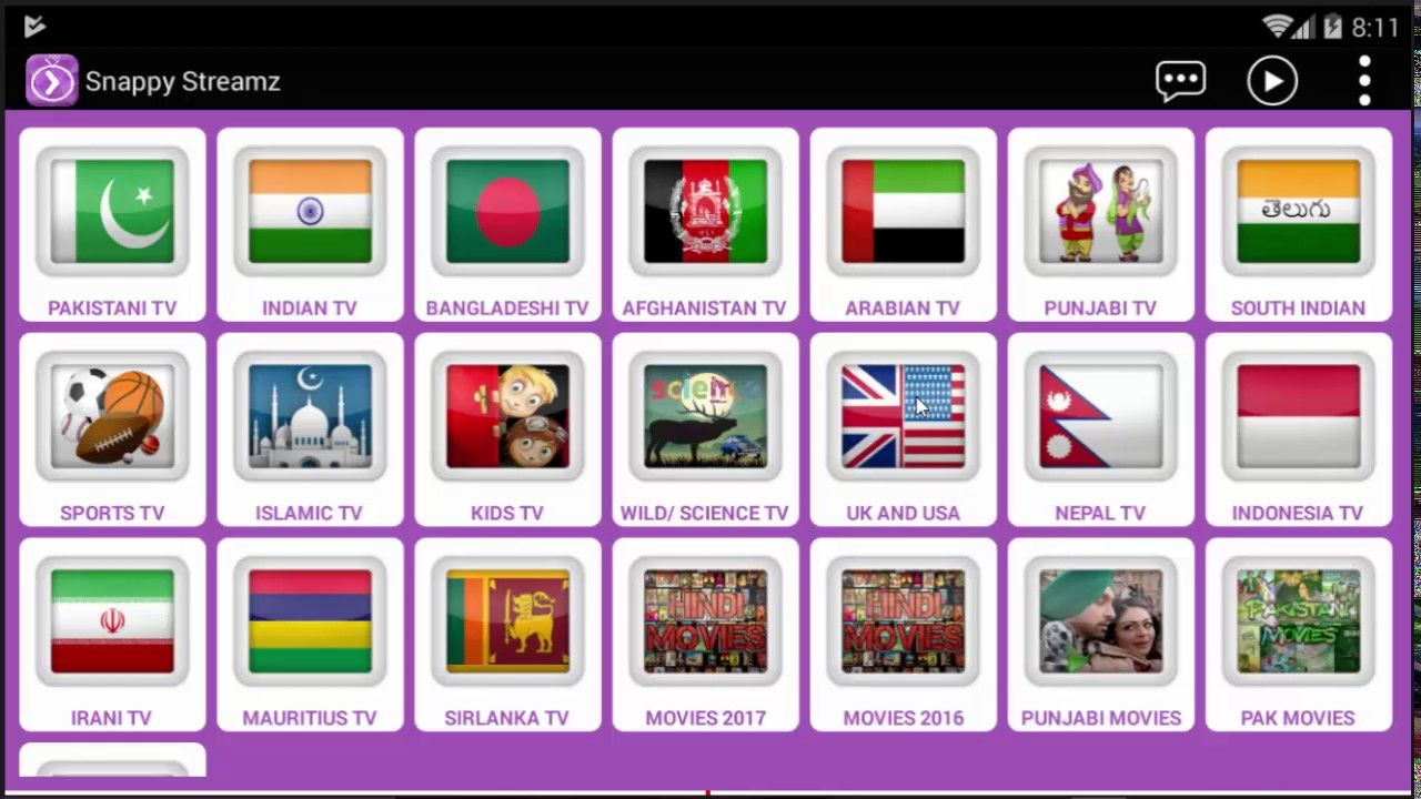 Regarder les chaines Bein sport TV arabes UK et USA Snappy