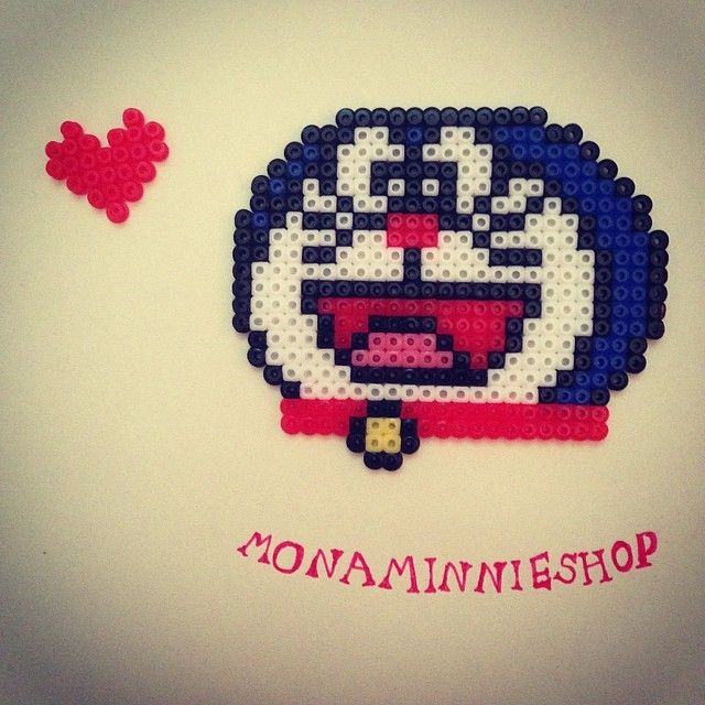 Doraemon perler beads by monaminnieshop
