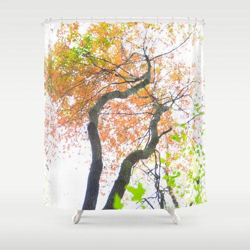 Fall Shower Curtain, Fall Tree Decor, Autumn Shower, Fall Bathroom ...