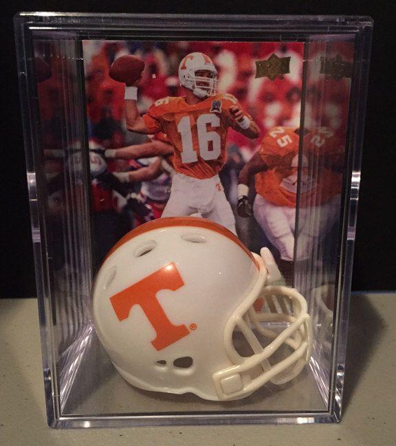 Tennessee Volunteers NCAA Helmet Shadowbox w//Peyton Manning card