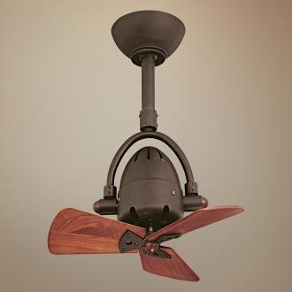 """16"""" Diane Textured Bronze Wood Blades Ceiling Fan  Small Fan Best Small Fan For Bathroom Design Ideas"""