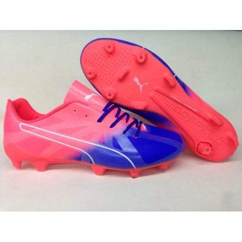 7d286fdac Puma evoSPEED - Puma evoSPEED Fresh 2 Football Boots Pink Blue ...