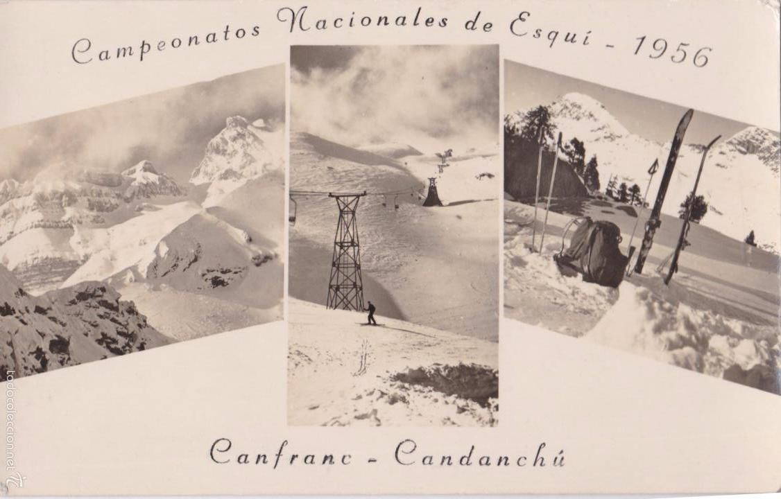 P- 5660. POSTAL CAMPEONATOS NACIONALES DE ESQUI CANFRANC CANDANCHU 1956. - Foto 1