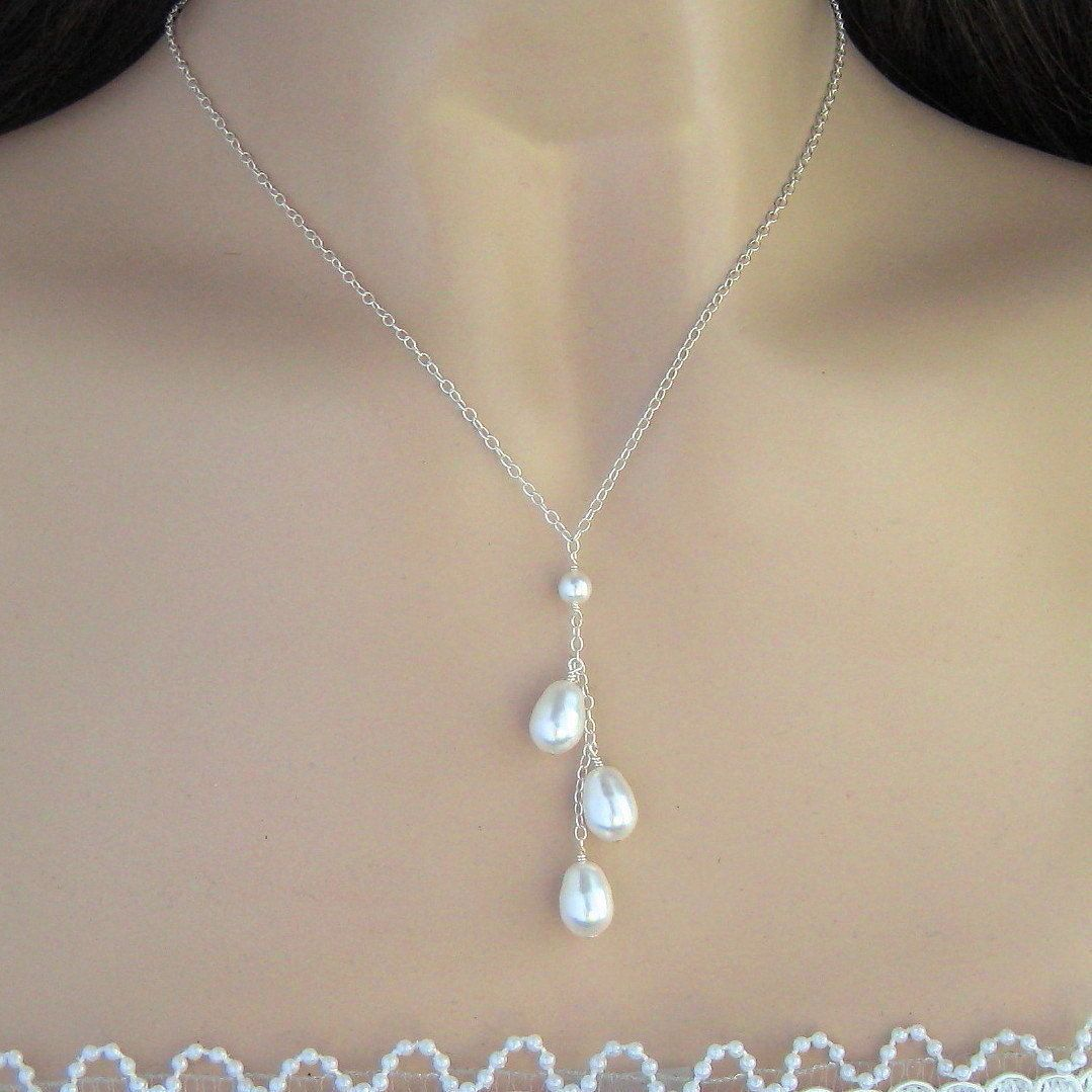 Pearl Necklace     Bridal necklace, Beautiful wedding jewelry, Diy ...