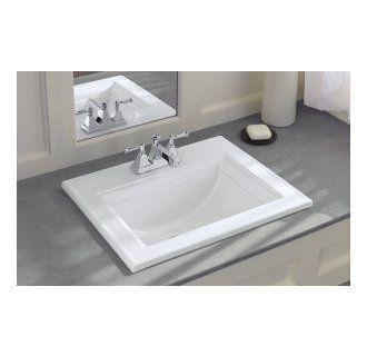 Kohler White Memoirs Stately Self Rimming Bathroom Sink With Cen